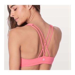 Lululemon free to be sports bra flashlight pink 10